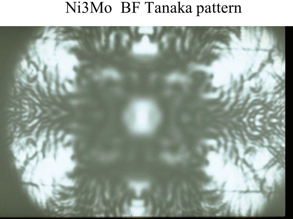 PASI Santiago, Chile July 2006 51 Eades / Convergent-Beam Diffraction: I Ni3Mo BF Tanaka pattern