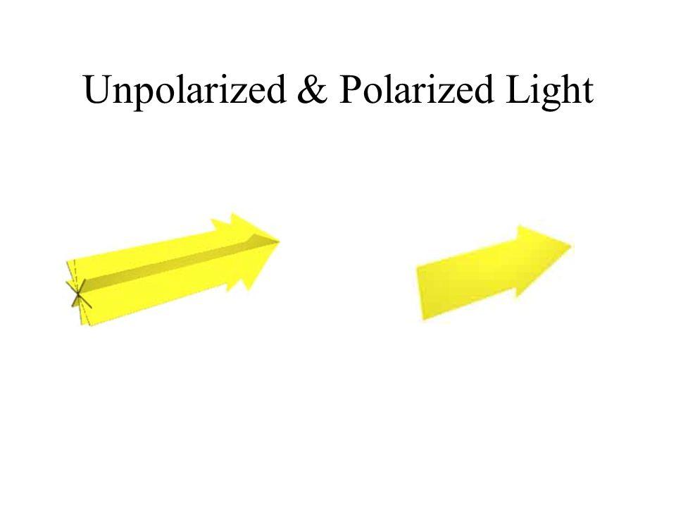 Unpolarized & Polarized Light