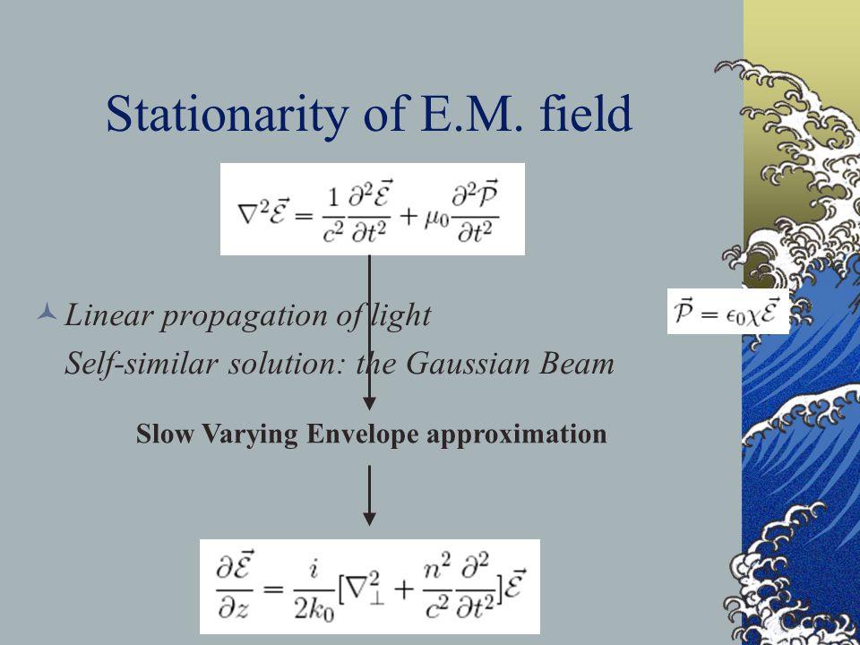 Stationarity of E.M.