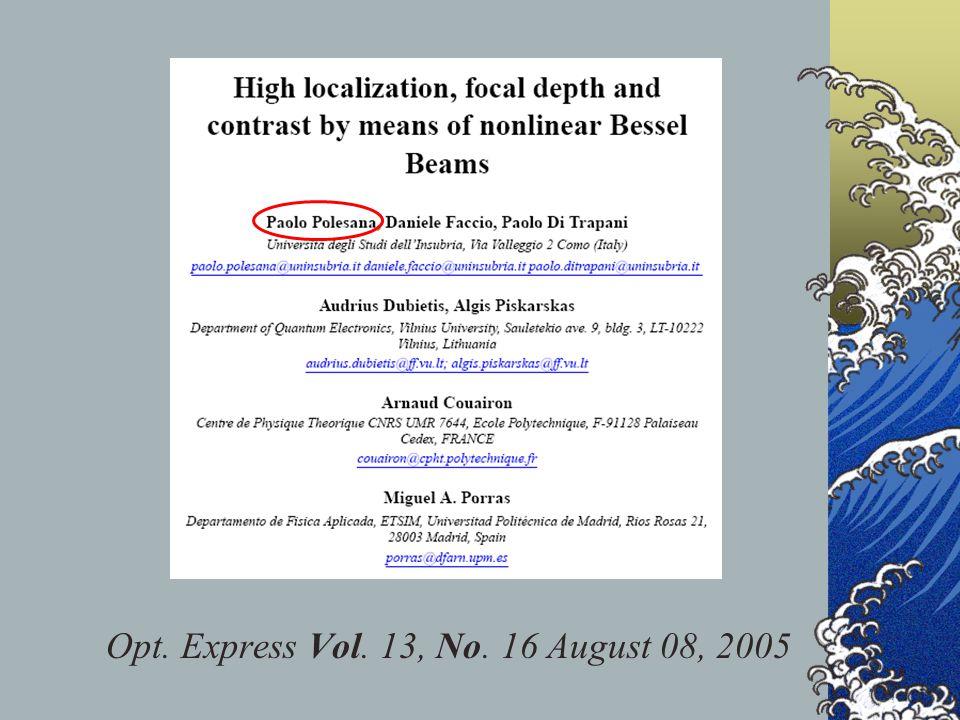 Opt. Express Vol. 13, No. 16 August 08, 2005