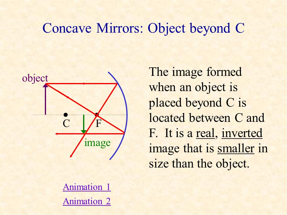 Spherical vs. Parabolic Mirrors Parallel rays converge at the focal point of a spherical mirror only if they are close to the principal axis. The imag