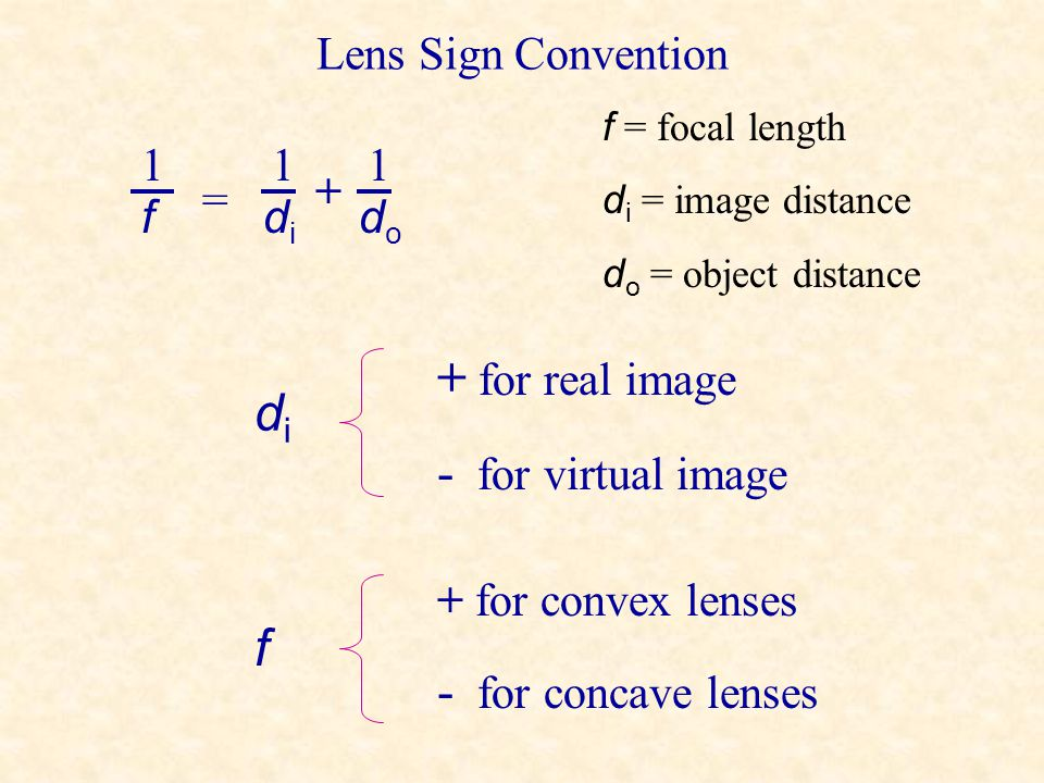 Concave Lens Diagram F F 2F object image No matter where the object is placed, the image will be on the same side as the object. The image is virtual,