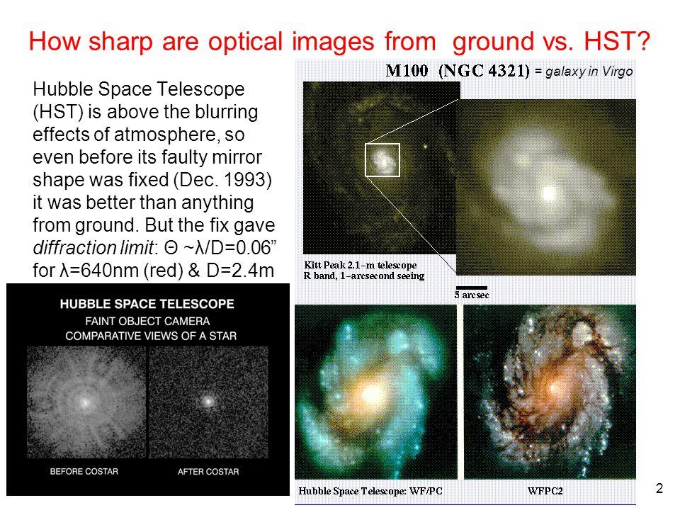 Oct.18, 2007 3 Telescopes on ground vs.