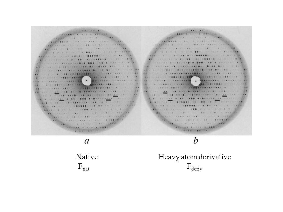 Native F nat Heavy atom derivative F deriv