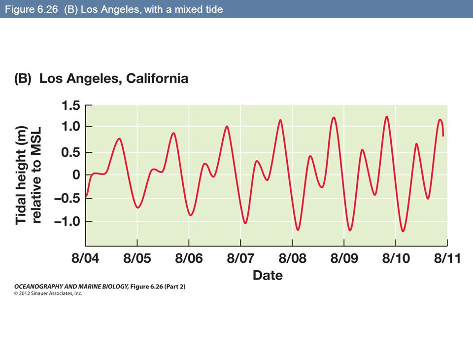 Figure 6.26 (B) Los Angeles, with a mixed tide
