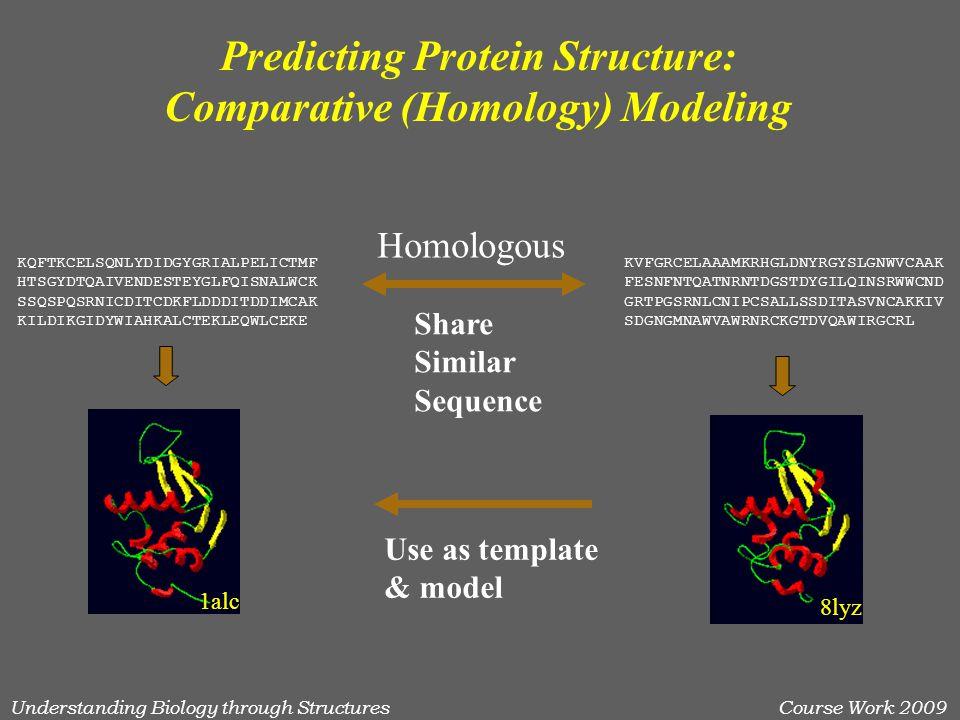 Understanding Biology through StructuresCourse Work 2009 .