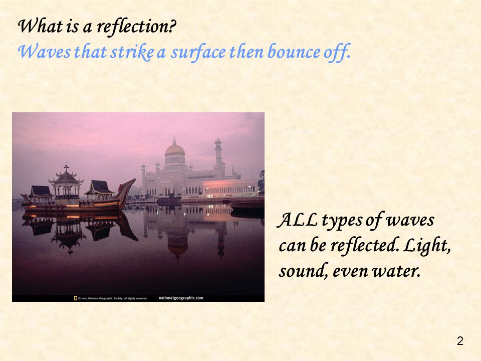 What is the law of reflection.