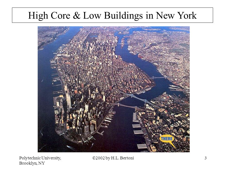 Polytechnic University, Brooklyn, NY ©2002 by H.L. Bertoni3 High Core & Low Buildings in New York