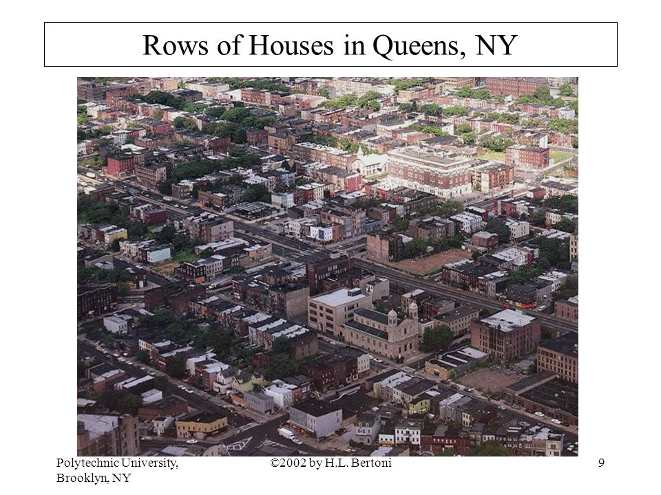 Polytechnic University, Brooklyn, NY ©2002 by H.L. Bertoni9 Rows of Houses in Queens, NY