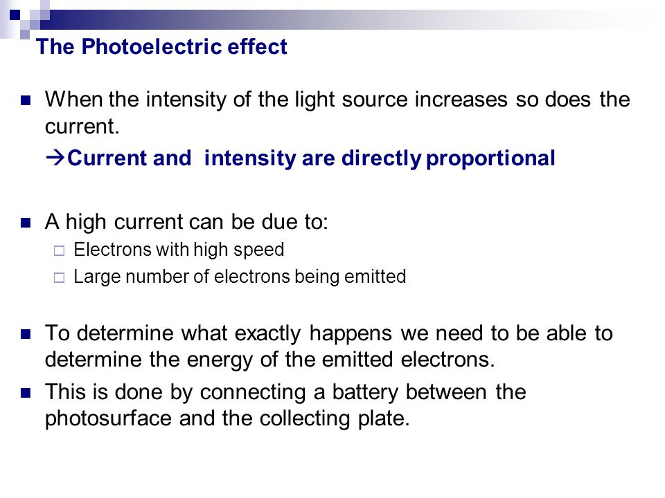 When the intensity of the light source increases so does the current.  Current and intensity are directly proportional A high current can be due to:
