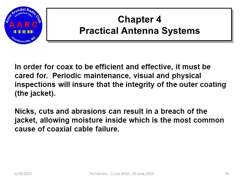 Chapter 4 Antenna Fundamentals 4/29/201577Technician -- 1 July 2010 - 30 June 2014