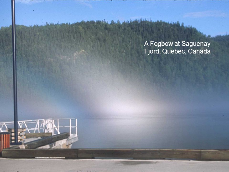 A Fogbow at Saguenay Fjord, Quebec, Canada