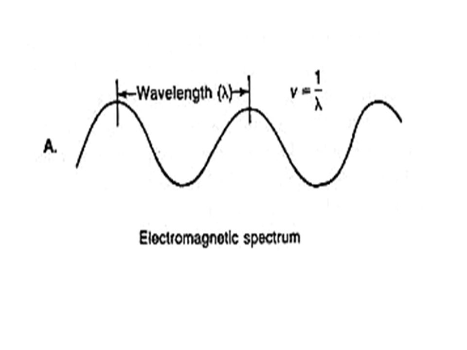 The distanace ( ) peaks in the UV and visible is measeured in Angstroms (Ao), nanometers (nm) or millimicrons (mu): There are 10 10 Ao, 10 9 nm, or 10 9 mu in 1 meter (SI unit is nm = 10 A = 1 mu) Radient energy that passes through an object will be parlially Reflected Absorbed And transmitted Beers law concentration Light absorbed transmitted Light The concentration of a substance is directly proportional to the amount of Light absorbed or inversely proportional to the Logarithm of the transmitted Light.