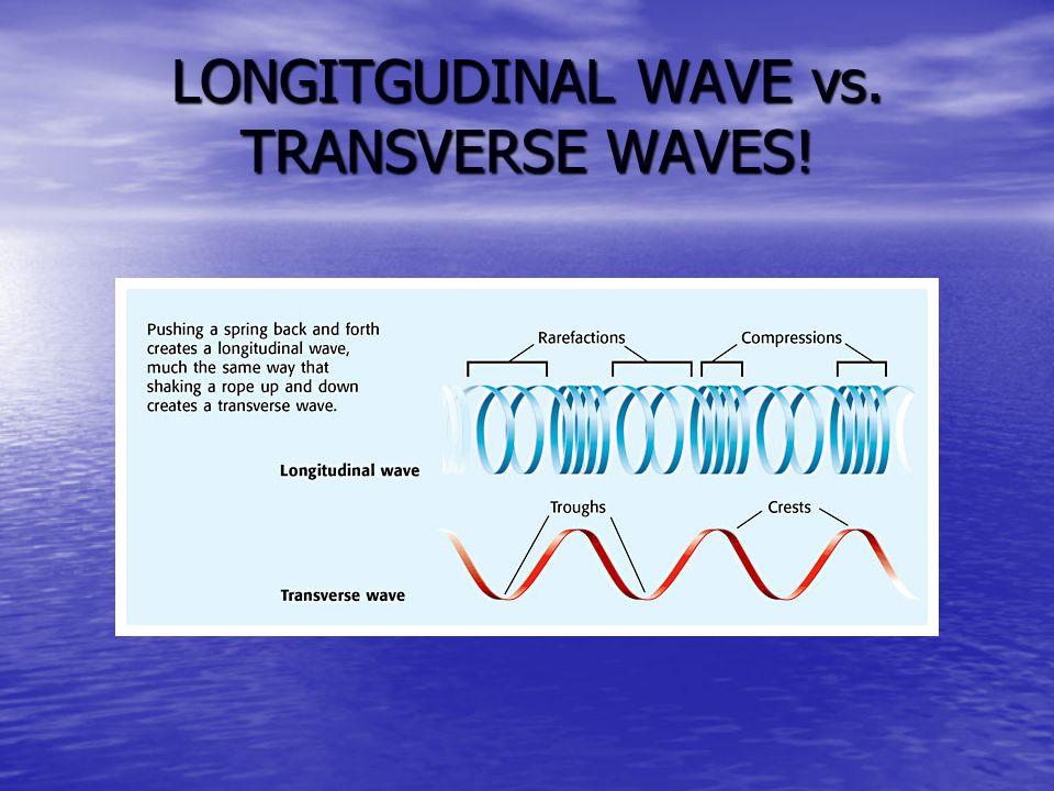 LONGITGUDINAL WAVE vs. TRANSVERSE WAVES!