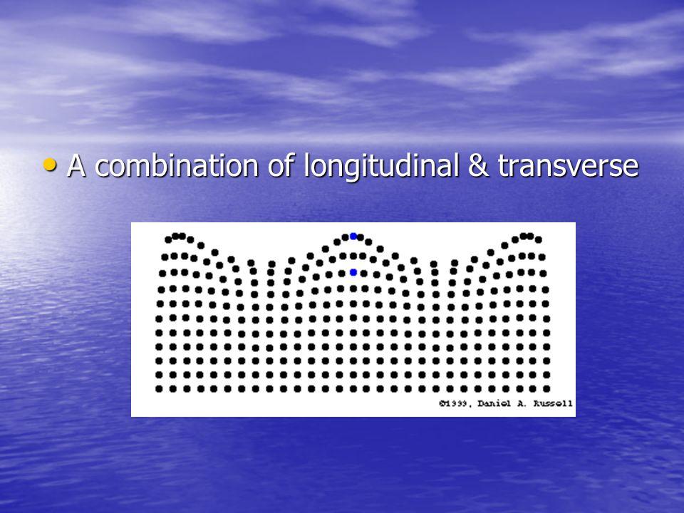A combination of longitudinal & transverse A combination of longitudinal & transverse
