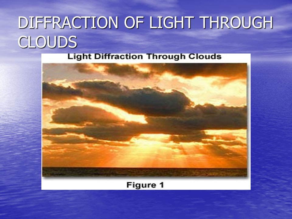 DIFFRACTION OF LIGHT THROUGH CLOUDS