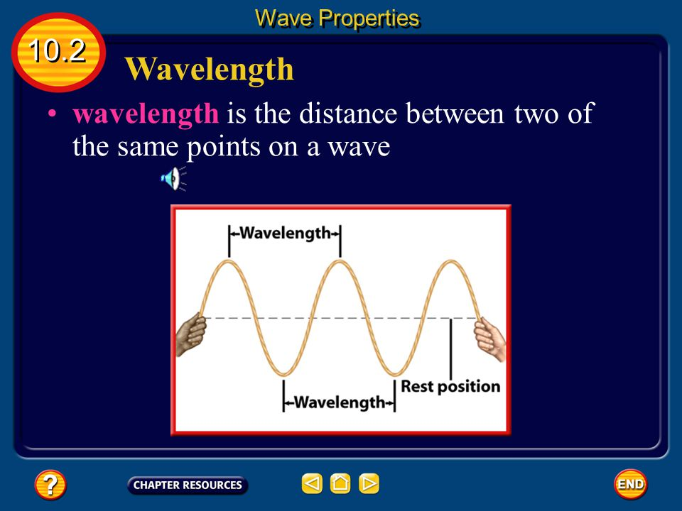 The Parts of a Wave Rarefaction- region where coils are spread apart 10.2 Wave Properties