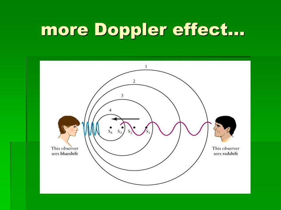 more Doppler effect…