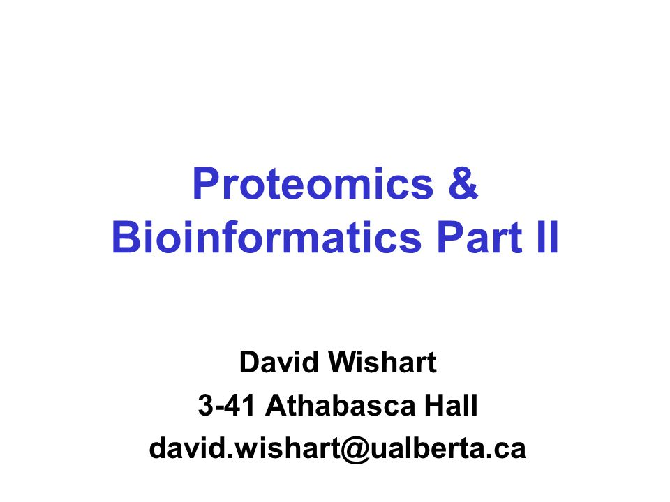 A Flood of Data High throughput techniques are leading to more and more data on protein interactions This is where bioinformatics can play a key role Some suggest that this is the future for bioinformatics