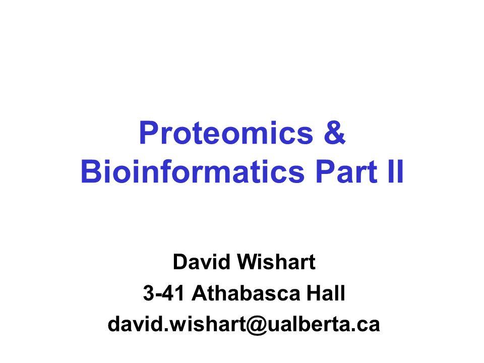 Peptide/Protein Profile E. coli Salmonella