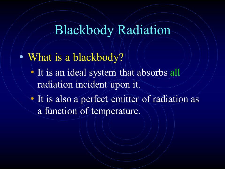 Blackbody Radiation What is a blackbody.