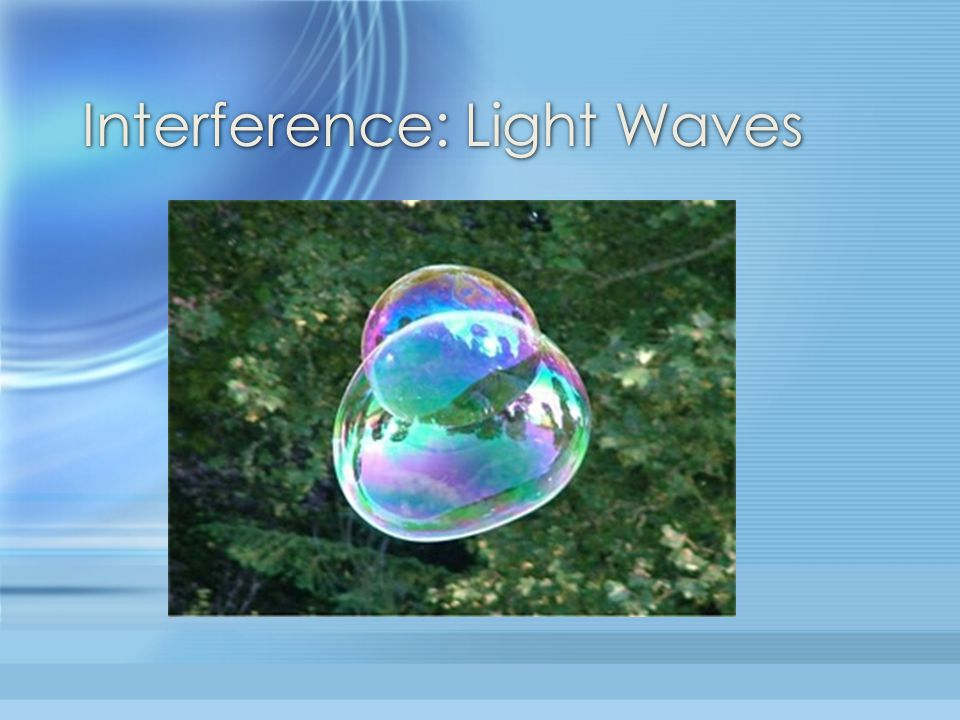 Interference: Light Waves