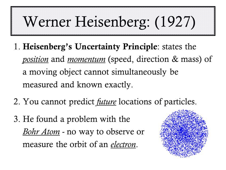 Werner Heisenberg: (1927) 1.