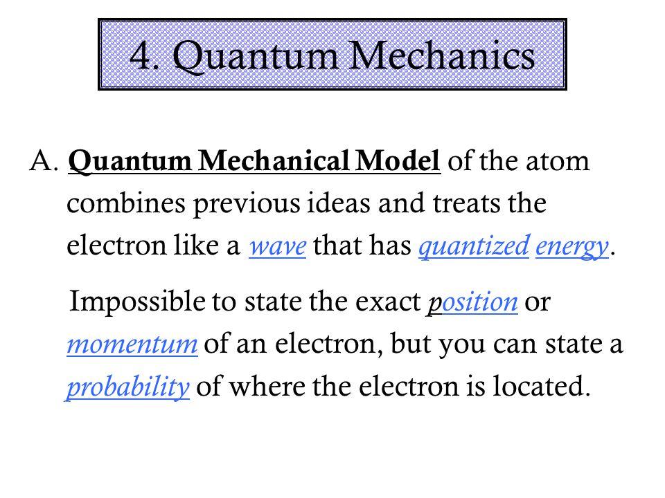 4. Quantum Mechanics A.