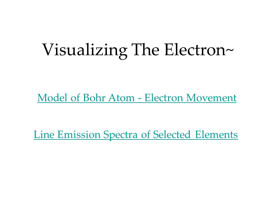 Visualizing The Electron~ Model of Bohr Atom - Electron Movement Line Emission Spectra of Selected Elements