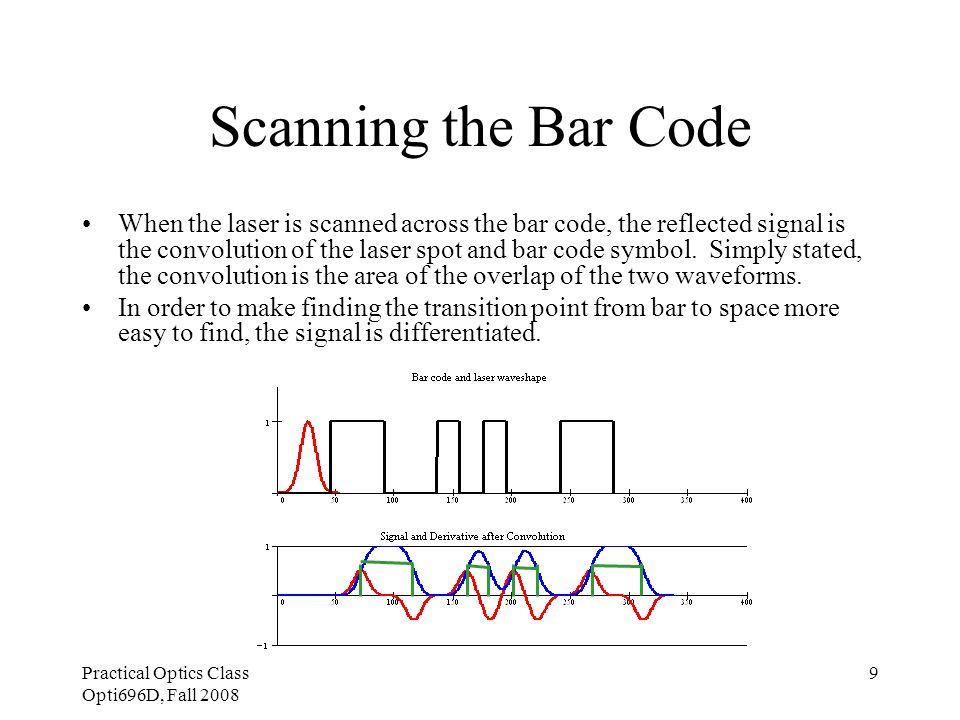 Practical Optics Class Opti696D, Fall 2008 10 Noise Corrupted Signal