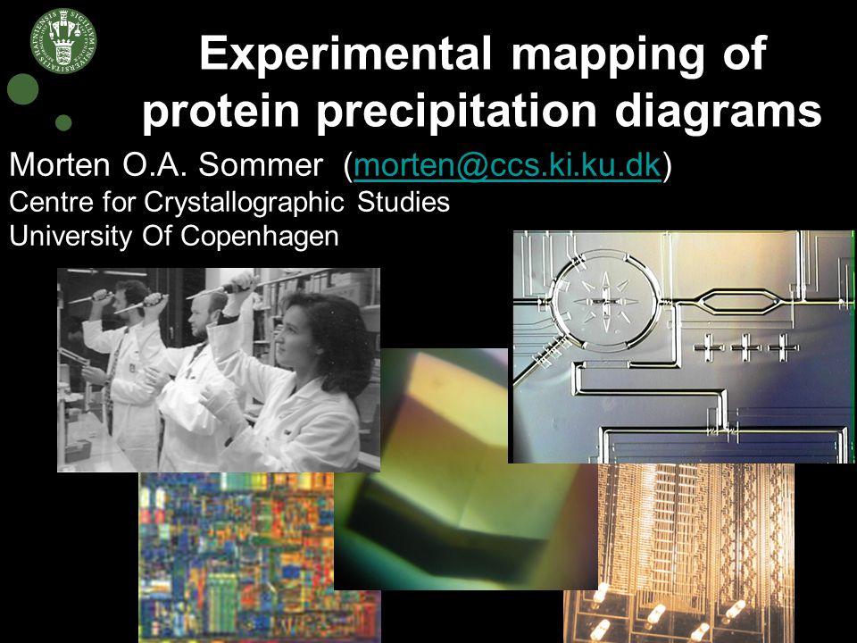 Experimental mapping of protein precipitation diagrams Morten O.A.