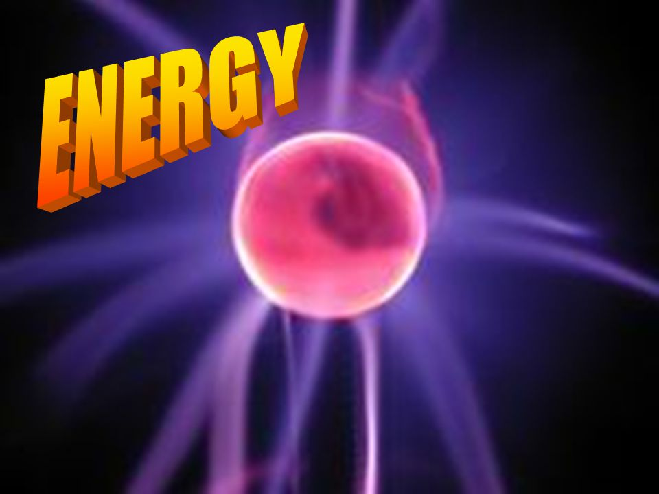 Energy is the ability to do work.