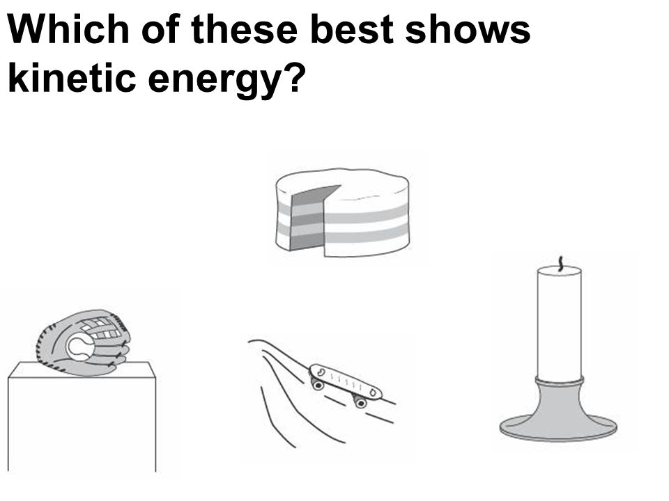 Which of these best shows kinetic energy?