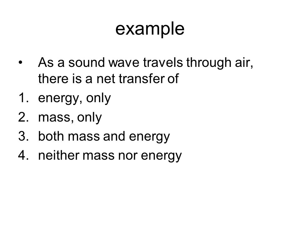 example A sound wave is a pressure wave; regions of high (compressions) and low pressure (rarefactions) are established as the result of the vibration