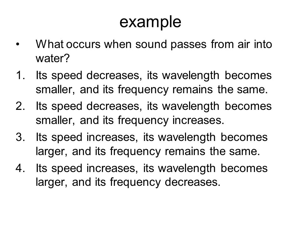 Factors Affecting Wave Speed The speed of any wave depends upon the properties of the medium through which the wave is traveling.depends upon the prop