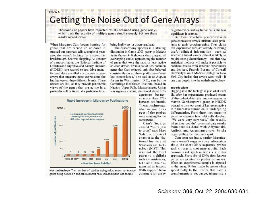 Science v. 306, Oct. 22, 2004 630-631.