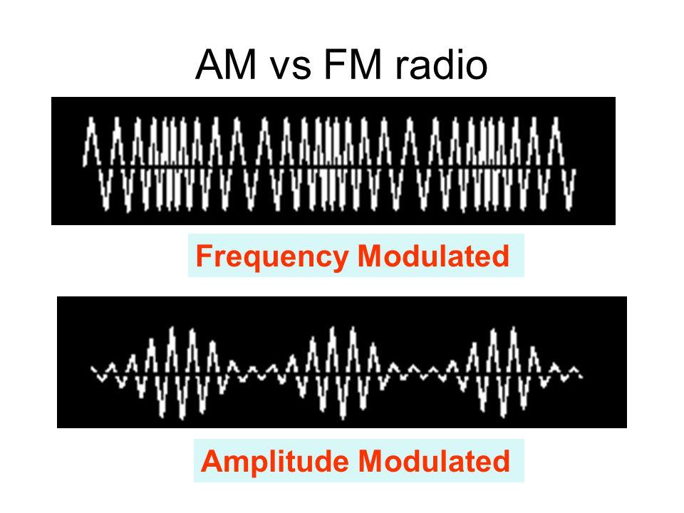 AM vs FM radio Frequency Modulated Amplitude Modulated