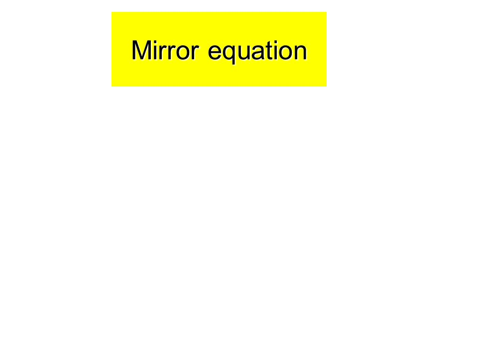 Mirror equation