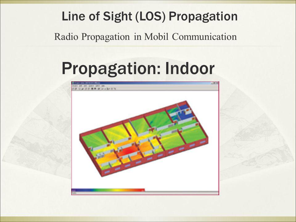 Propagation: Indoor Line of Sight (LOS) Propagation Radio Propagation in Mobil Communication