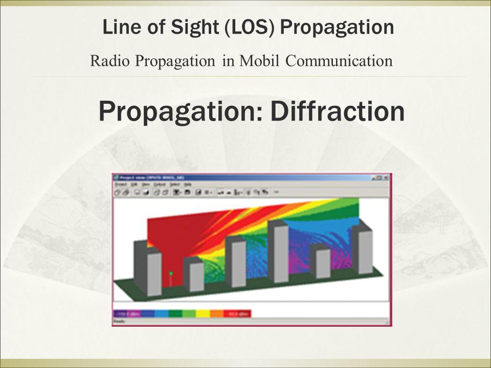 Propagation: Diffraction Line of Sight (LOS) Propagation Radio Propagation in Mobil Communication