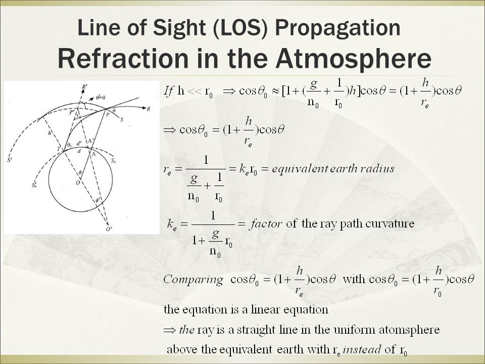 Refraction in the Atmosphere Line of Sight (LOS) Propagation