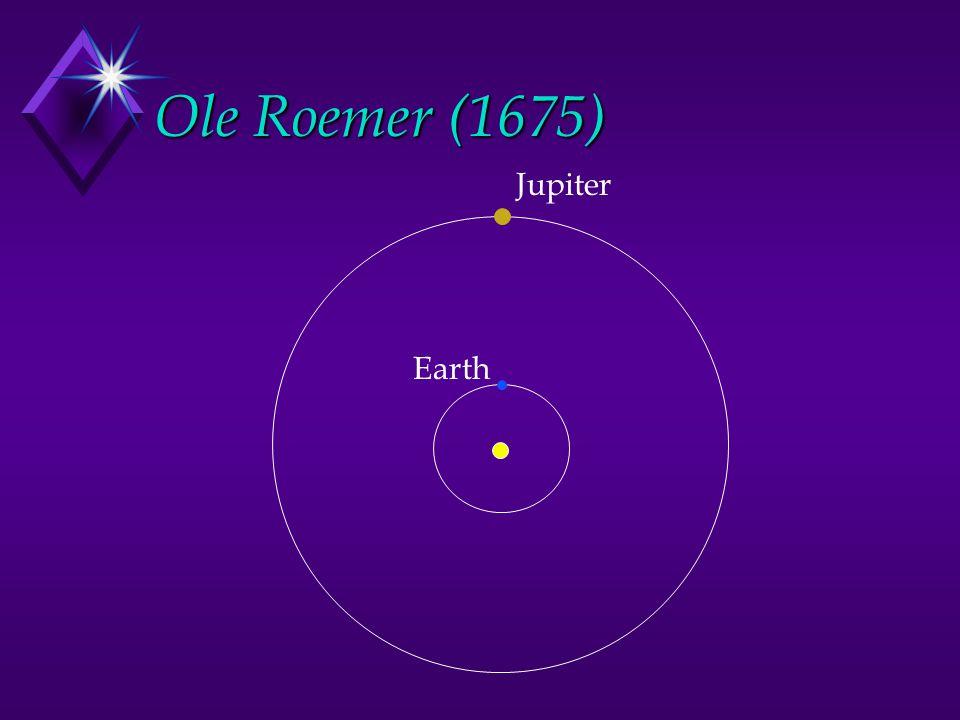 Ole Roemer (1675) Earth Jupiter