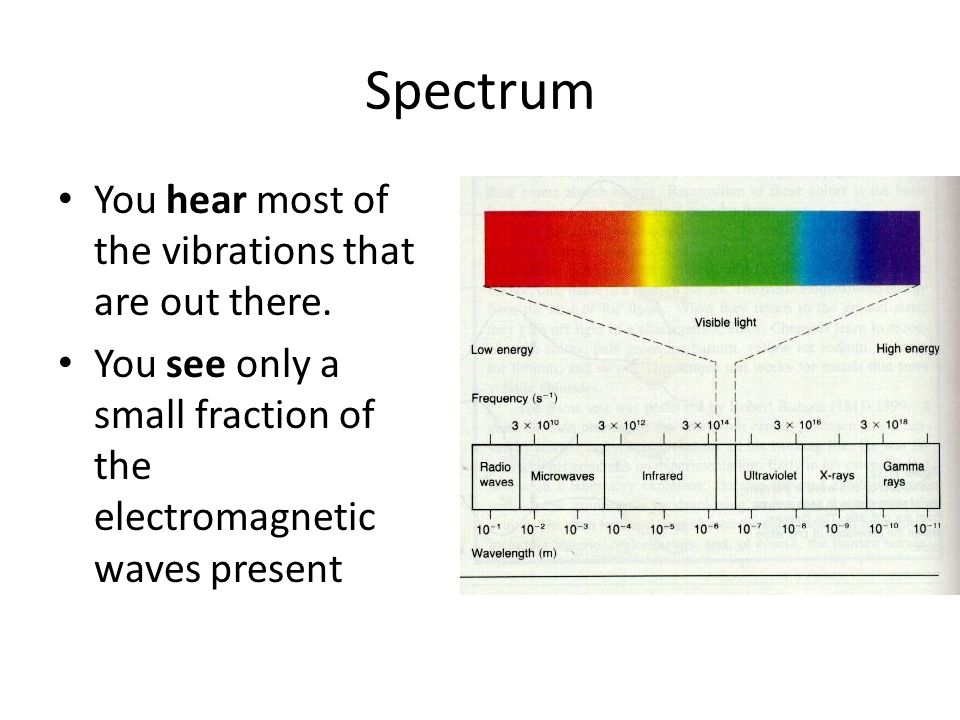 Spectrum You hear most of the vibrations that are out there.