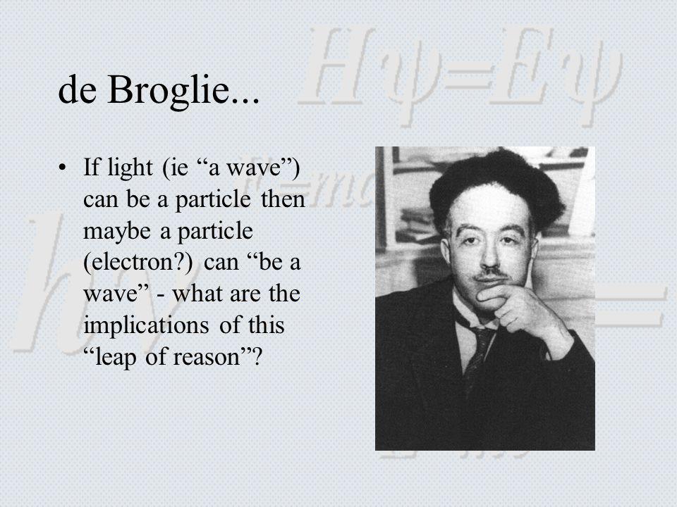 de Broglie...