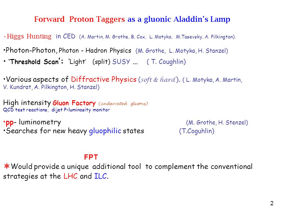 2 Forward Proton Taggers as a gluonic Aladdin's Lamp Higgs Hunting in CED (A.