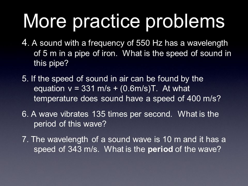 More practice problems 4.