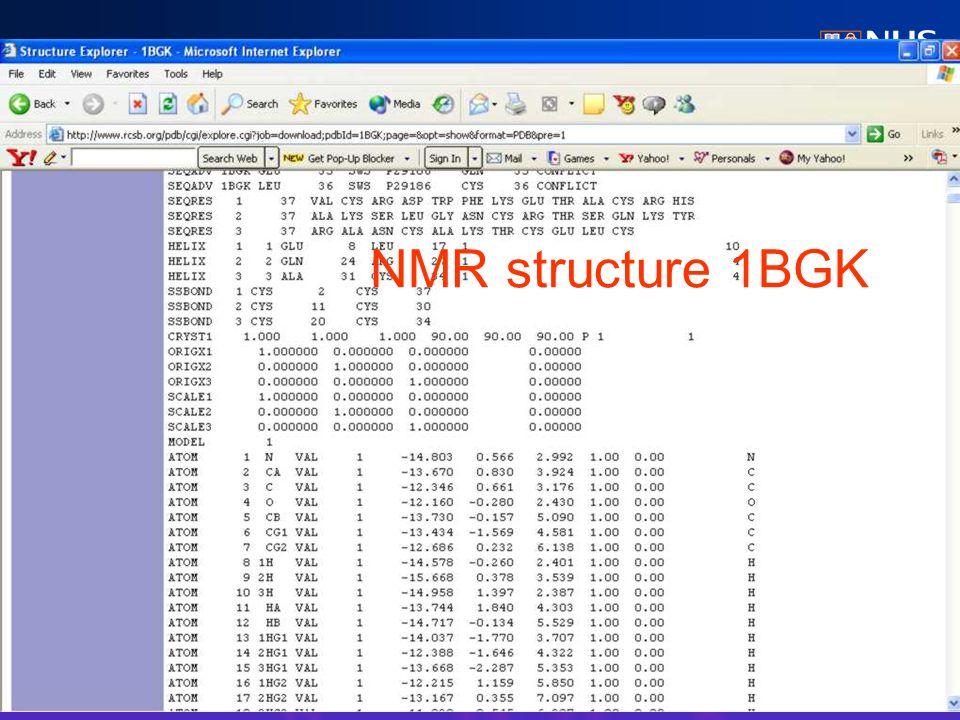 NMR structure 1BGK