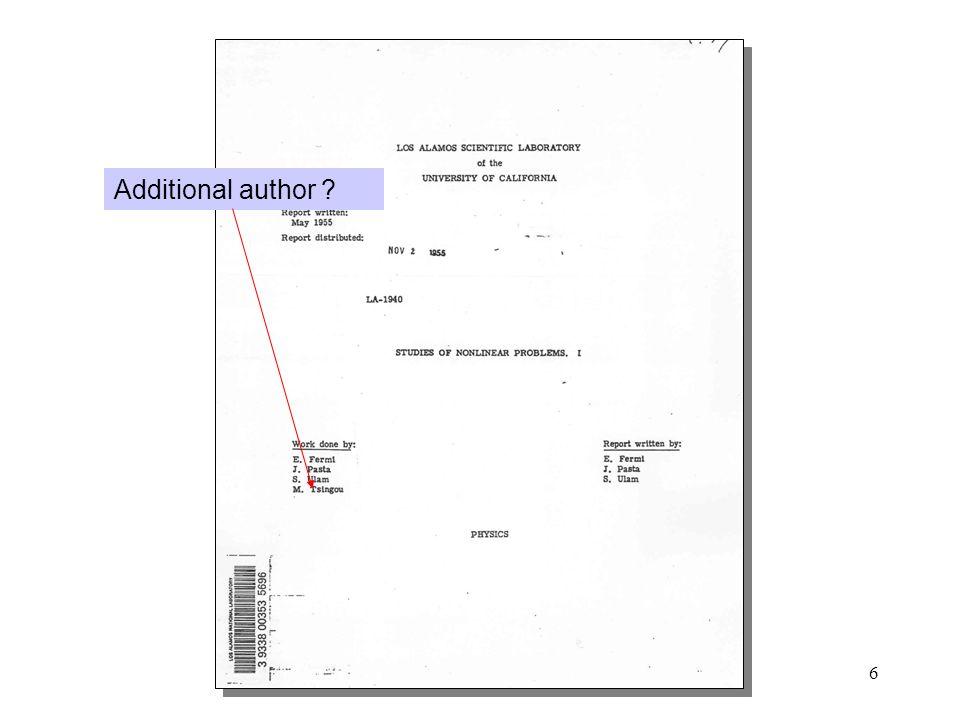 6 Additional author