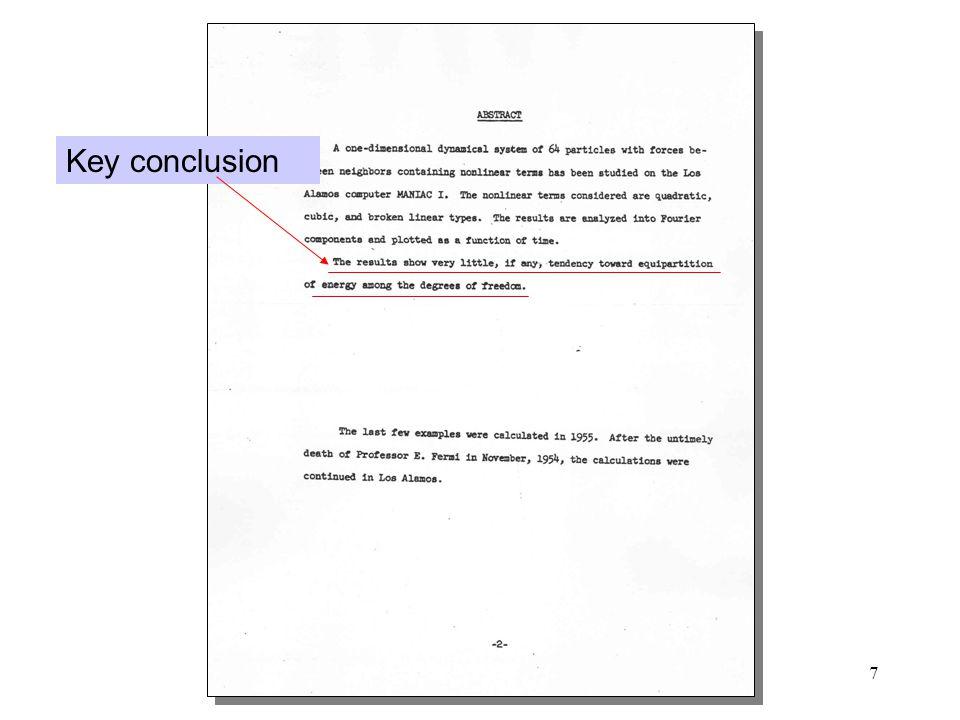 7 Key conclusion