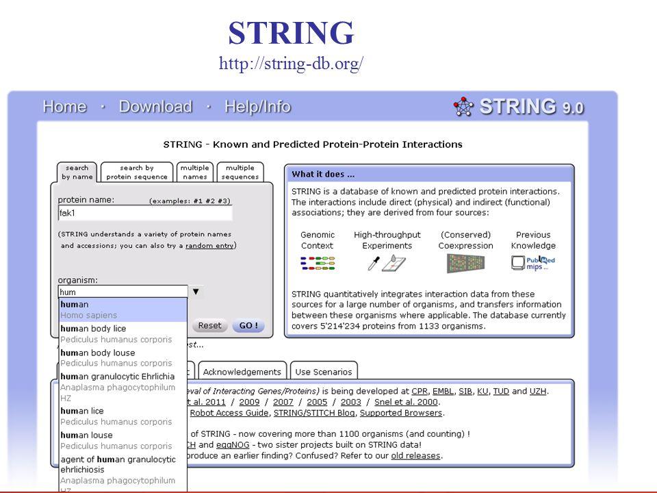 STRING http://string-db.org/